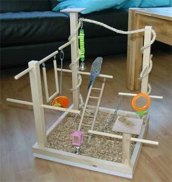 grasparkieten speelgoed zelf maken